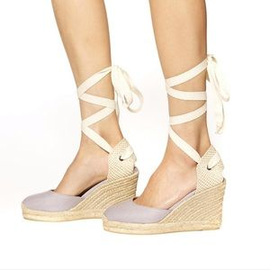 Soludos Linen Tall Wedge